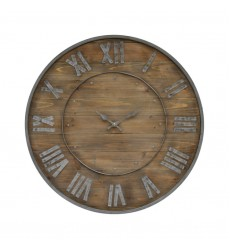 Renwil - Teatime CL211 - Wall Clock - Natural wood/Grey