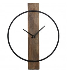 Amika CL221 - Wall Clock - Natural Wood, Black - Renwil