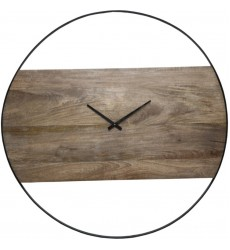 Pearl CL220 - Wall Clock - Natural Wood, Black - Renwil