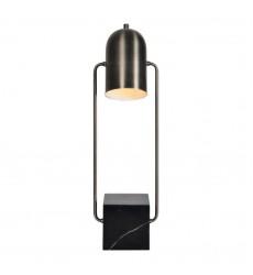 Renwil - Abbey LPT825 - Table Lamp - Gun Metal and Black Marble