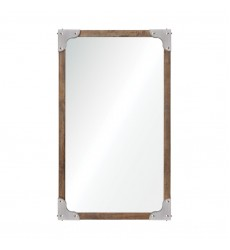 Advocate MT1438 - Wall Mirror - Antique Nickel with Rivets - Renwil