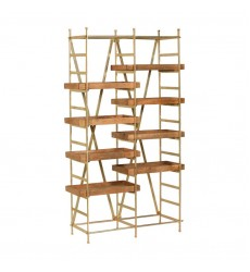 Swansea SHE006 - Shelf - Natural/Brass Plated - Renwil