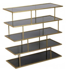 Capucine SHE010 - Shelf - Amber Glass, Brass - Renwil
