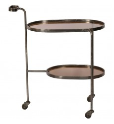 Niagara TA271 - Bar Cart - Smoky Glass, Black Nickel - Renwil