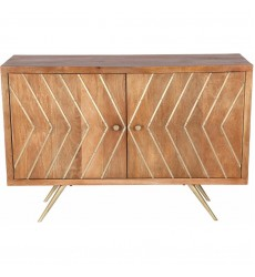 Bresmo TA273 Natural Antique Brass Cabinet - Renwil