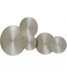 Amulette W6545 - Wall Art - Silver Leaf Accent - Renwil