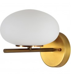 Acai WS030 - Wall Sconce - White, Antique Brass - Renwil