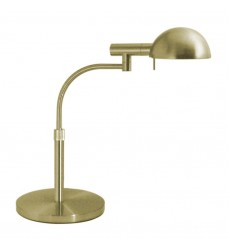Sonneman - E-Dome Satin Brass Swing Arm Table Lamp (3043.38)