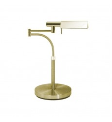 Sonneman - E-Tenda Satin Brass Swing Arm Table Lamp (7014.38)