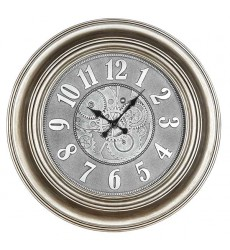 Standa - Antique Silver Finish Clock (CL610)