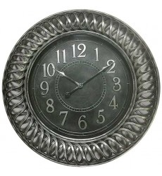 Standa - Antique Silver Finish Clock (CL611)