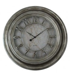 Standa - Antique Silver Finish Clock (CL614)