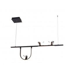LED Pendant Black + Chrome Island Lighting (HH-791674B-3P39)