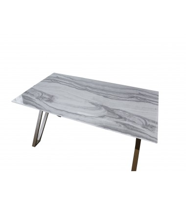 Tempered Glass Rectangle Dining Table(WV-D326G63X35)
