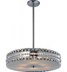 6 Light crystal pendant with diffuser (G9) 2 pin 40w (1156C6)