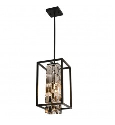 1 Light pendant  stainless steel and crystal (E26) (1166C)