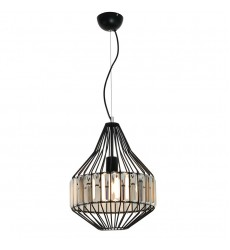 1 Light pendant with crystal black (E26) (1178C)