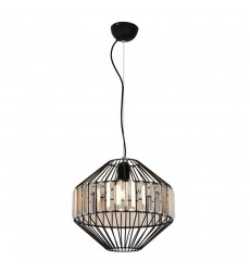 1 Light pendant with crystal black (E26) (1179C)