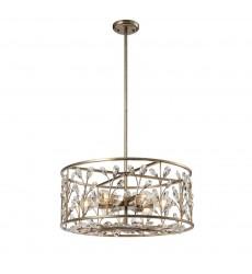 6 Light modern crystal chandelier antique gold finish (E26) (1319C6)