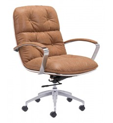 Avenue Office Chair Vintage Coffee (100446) - Zuo Modern