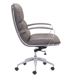 Avenue Office Chair Vintage Gray (100447) - Zuo Modern
