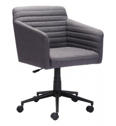 Bronx Office Chair Dark Gray (100959) - Zuo Modern