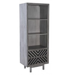 Raven Narrow Tall Shelf Old Gray (100972)