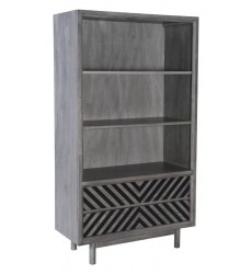 Raven Wide Tall Shelf Old Gray (100973)