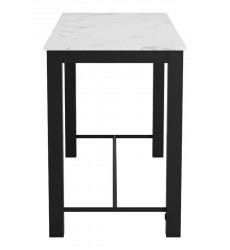 Dawson Bar Table Faux Marble & Matt Black (100974) - Zuo Modern