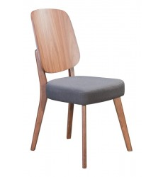 Alberta Dining Chair Walnut & Dark Gray (100981) - Zuo Modern