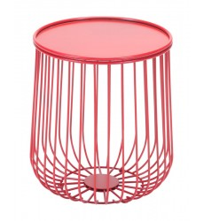 Gilbert Side Table Red (101031)