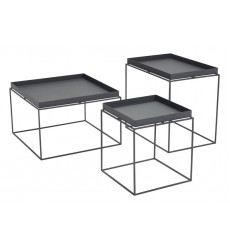 Gaia Nesting Table Black (101160) - Zuo Modern
