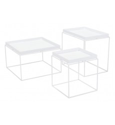Gaia Nesting Table White (101163) - Zuo Modern