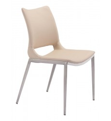 Ace Dining Chair Light Pink & Brushed Stainless Steel (101281) - Zuo Modern