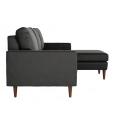 Kace Sectional Charcoal Velvet (101324)
