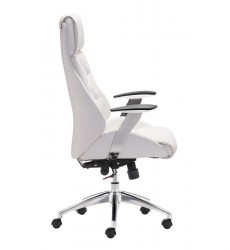 Boutique Office Chair White (205891) - Zuo Modern