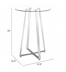 Lemon Drop Bar Table Chrome (601101) - Zuo Modern
