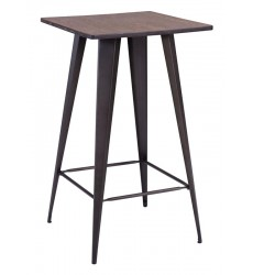 Titus Bar Table Rusty & Elm Wood Top (601188) - Zuo Modern