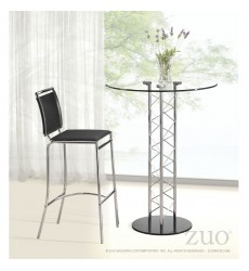 Chardonnay Bar Table Chrome (621111) - Zuo Modern