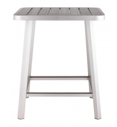 Megapolis Bar Table Brushed Aluminum (703184) - Zuo Modern