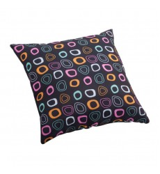 Kitten Small Outdoor Pillow Chocolate Base And Multicolor Pattern (703281)