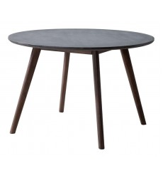 Elite Dining Table Cement & Natural (703590)