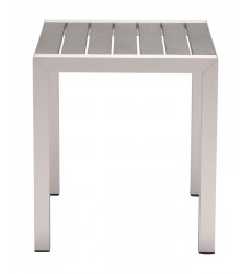 Cosmopolitan Side Table B. Aluminum (703838) - Zuo Modern
