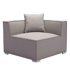 Fiji Corner Chair Gray (703855) - Zuo Modern