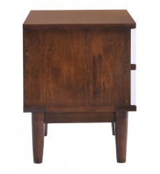 La Night Stand Walnut & White (800334)