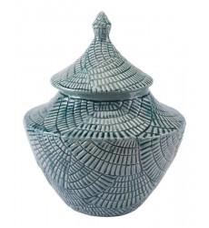 Escalera Sm Covered Jar  Mint (A10033)