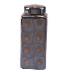 Inca Md Covered Jar Yellow & Black (A10219) - Zuo Modern