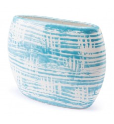 Washed Planter Blue & White (A10283) - Zuo Modern