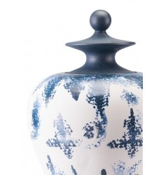 Mar Lg Temple Jar Blue & White (A10298) - Zuo Modern