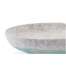 Azte Bowl Gray & Teal (A10302)